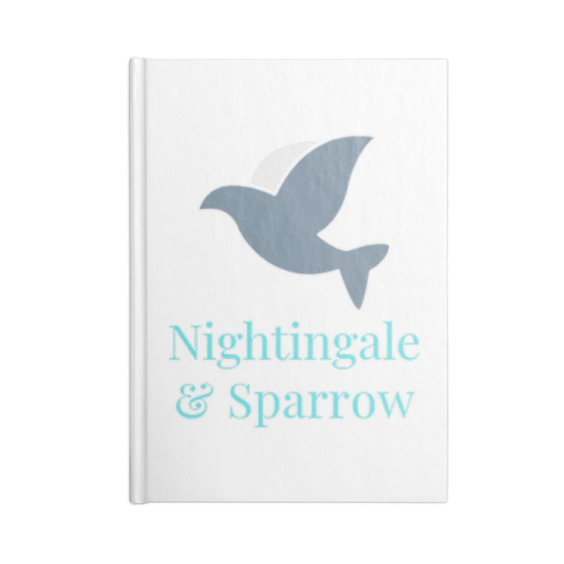N&S Logo Accessories Lined Journal Notebook by Nightingale & Sparrow's Artist Shop