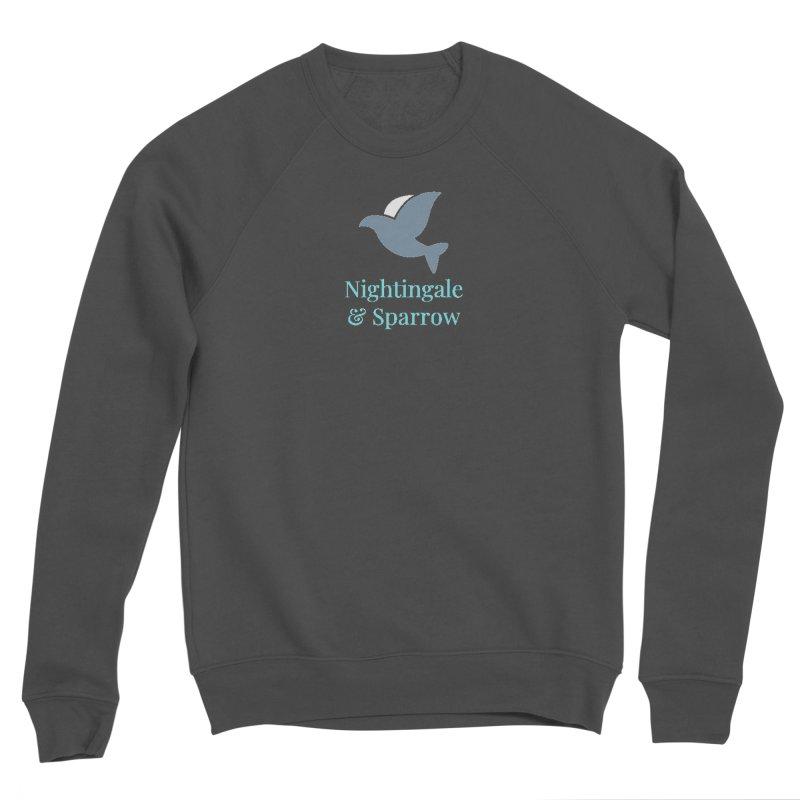 N&S Logo Men's Sponge Fleece Sweatshirt by Nightingale & Sparrow's Artist Shop