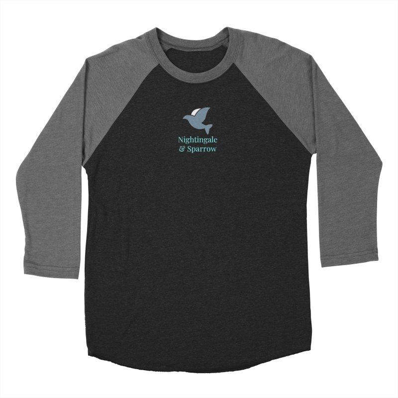 N&S Logo Men's Baseball Triblend Longsleeve T-Shirt by Nightingale & Sparrow's Artist Shop
