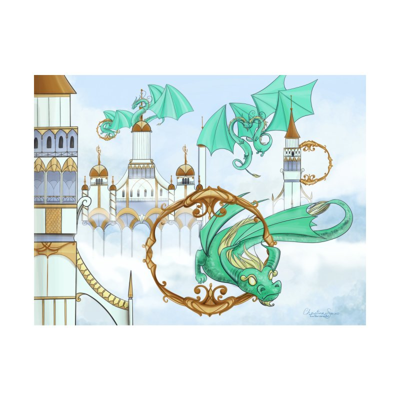 Cloud Dragons Home Framed Fine Art Print by Night Shift Comics Shop
