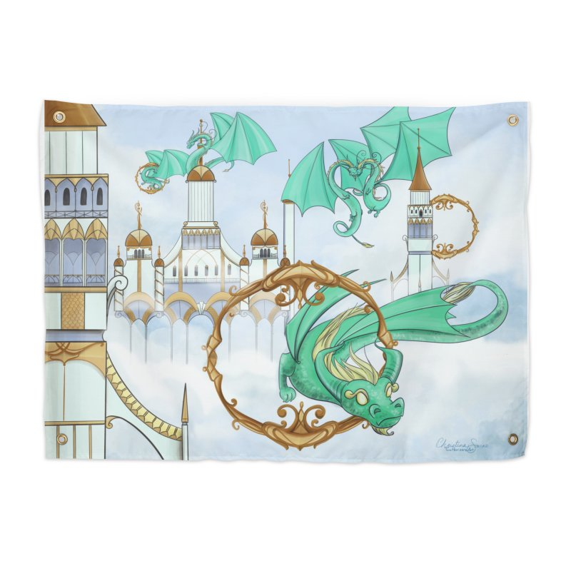 Cloud Dragons Home Tapestry by Night Shift Comics Shop