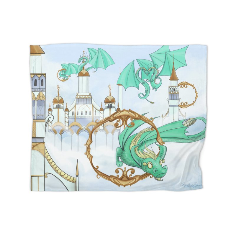 Cloud Dragons Home Fleece Blanket Blanket by Night Shift Comics Shop
