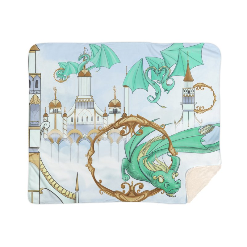 Cloud Dragons Home Sherpa Blanket Blanket by Night Shift Comics Shop