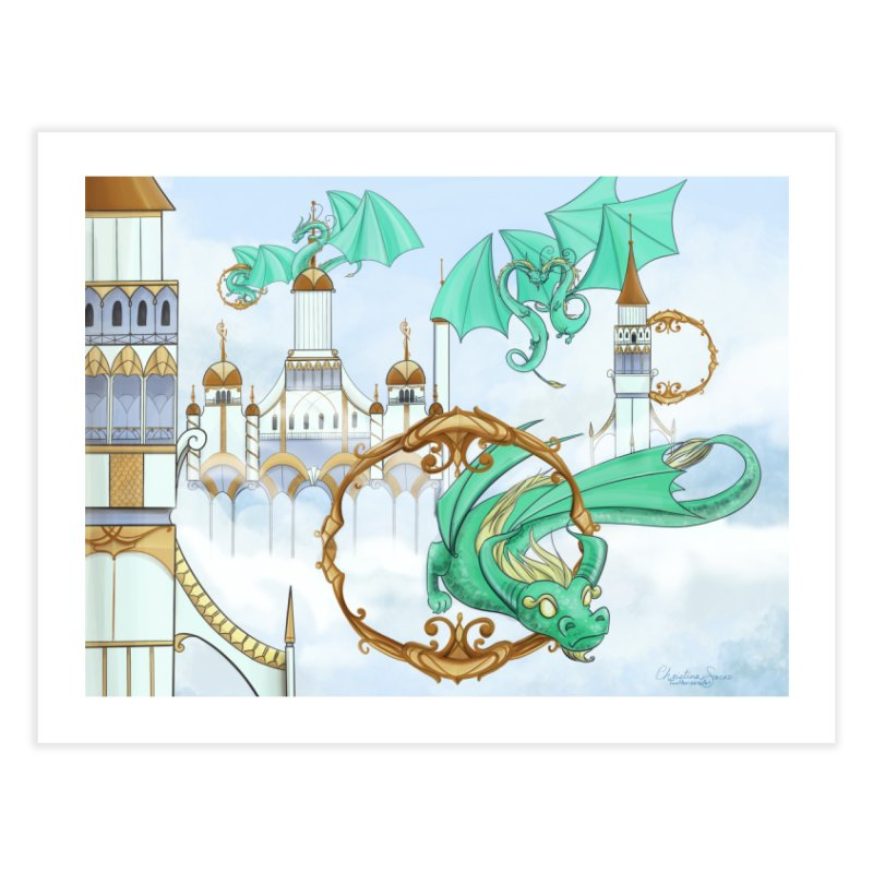 Cloud Dragons Home Fine Art Print by Night Shift Comics Shop