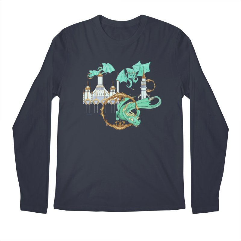 Cloud Dragons Men's Regular Longsleeve T-Shirt by Night Shift Comics Shop
