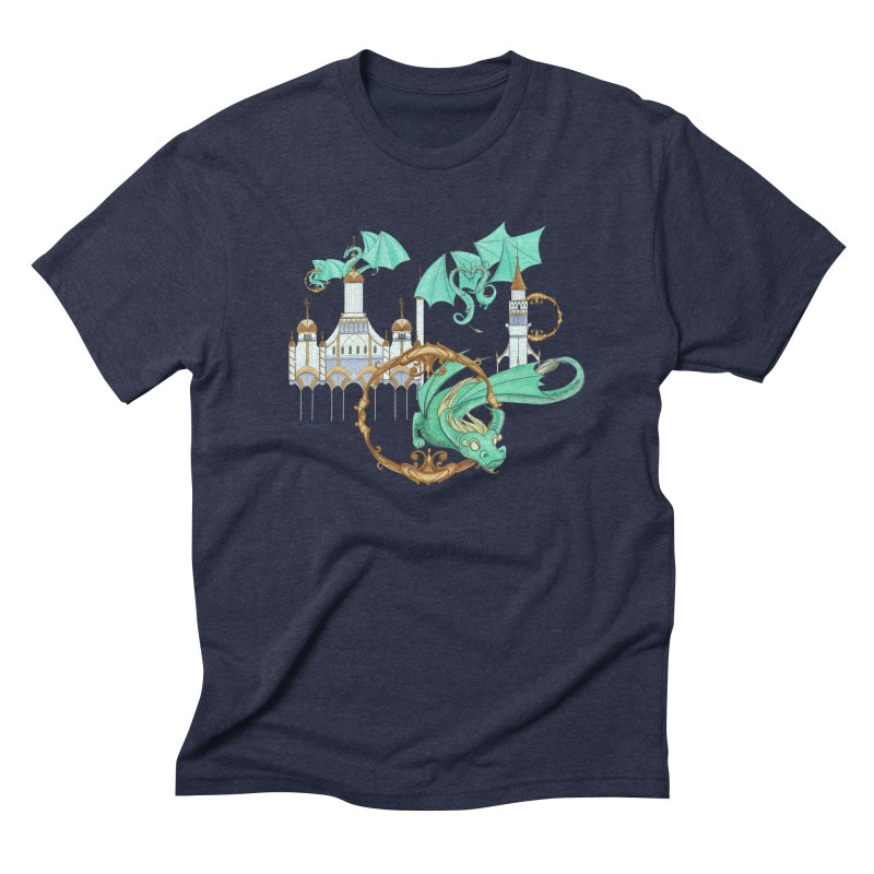 Cloud Dragons Men's Triblend T-Shirt by Night Shift Comics Shop