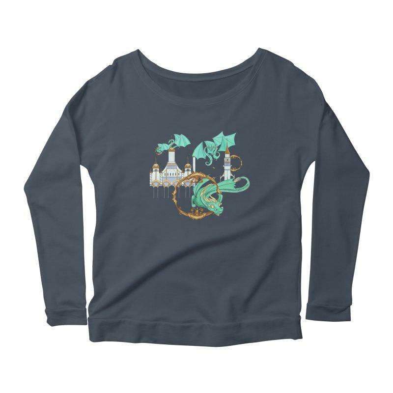 Cloud Dragons Women's Scoop Neck Longsleeve T-Shirt by Night Shift Comics Shop