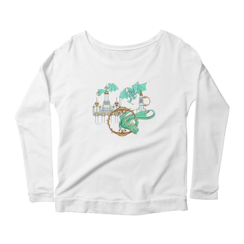Cloud Dragons Women's Scoop Neck Longsleeve T-Shirt by Night Shift Comics Shop