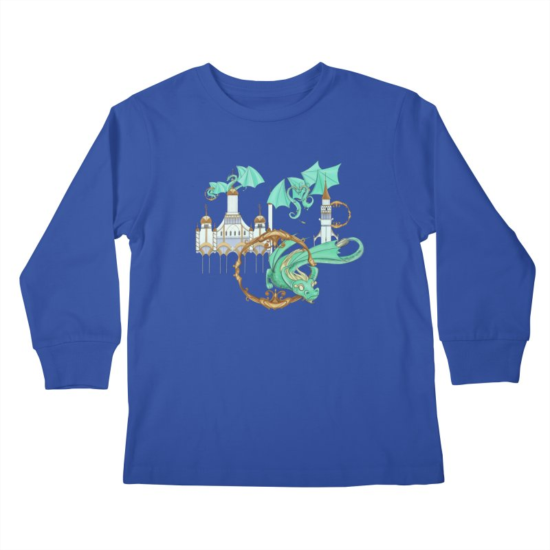 Cloud Dragons Kids Longsleeve T-Shirt by Night Shift Comics Shop