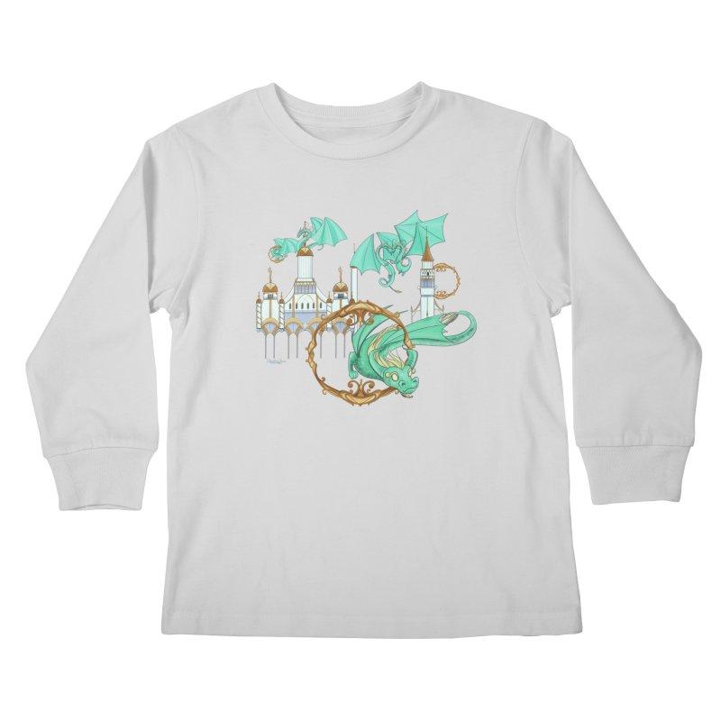Cloud Dragons Kids Longsleeve T-Shirt by Night Shift Comics Shop