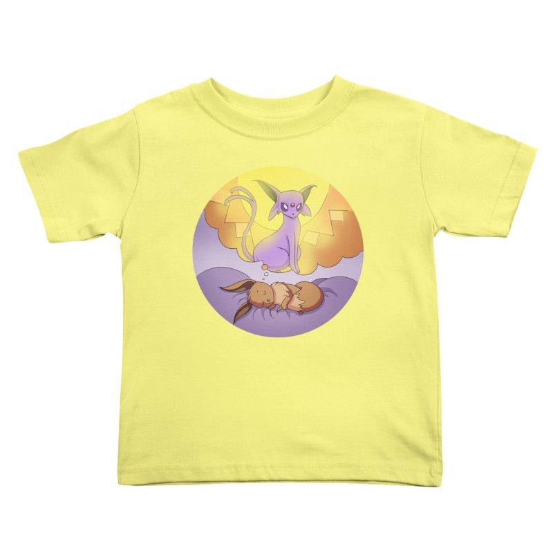 Sweet Dreams: Espeon Kids Toddler T-Shirt by Night Shift Comics Shop