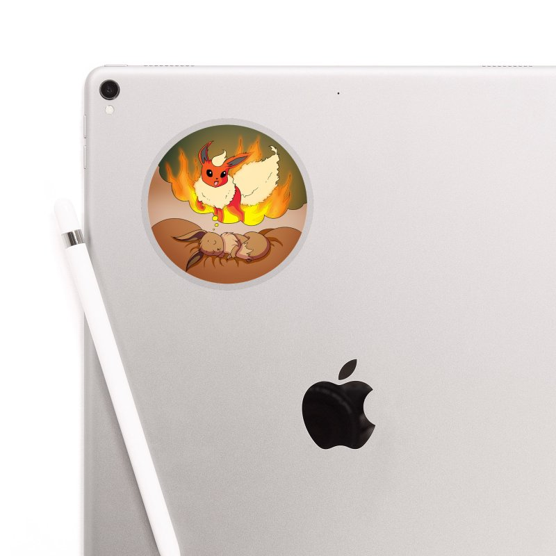 Sweet Dreams: Flareon Accessories Sticker by Night Shift Comics Shop