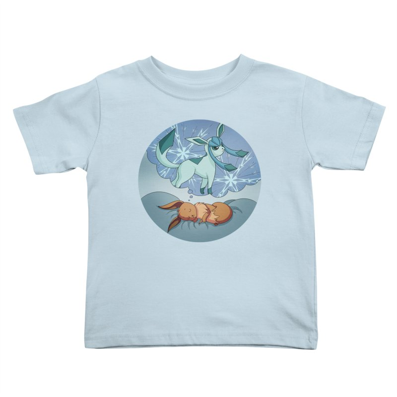 Sweet Dreams: Glaceon Kids Toddler T-Shirt by Night Shift Comics Shop