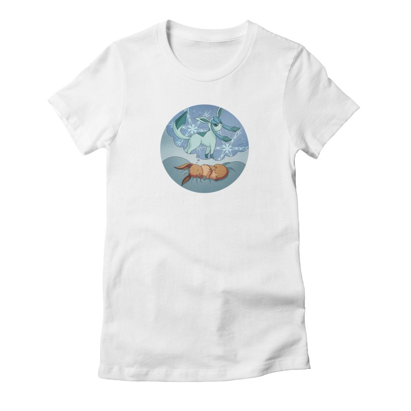 Sweet Dreams: Glaceon Women's Fitted T-Shirt by Night Shift Comics Shop