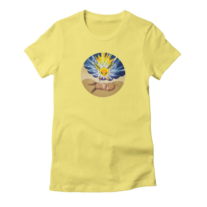 Sweet Dreams: Jolteon Women's Fitted T-Shirt by Night Shift Comics Shop