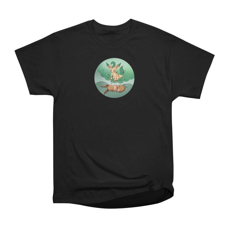 Sweet Dreams: Leafeon Men's Heavyweight T-Shirt by Night Shift Comics Shop