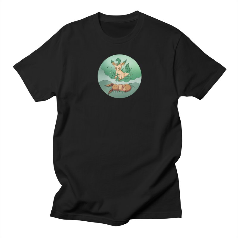 Sweet Dreams: Leafeon Men's Regular T-Shirt by Night Shift Comics Shop