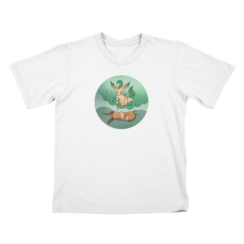 Sweet Dreams: Leafeon Kids T-Shirt by Night Shift Comics Shop