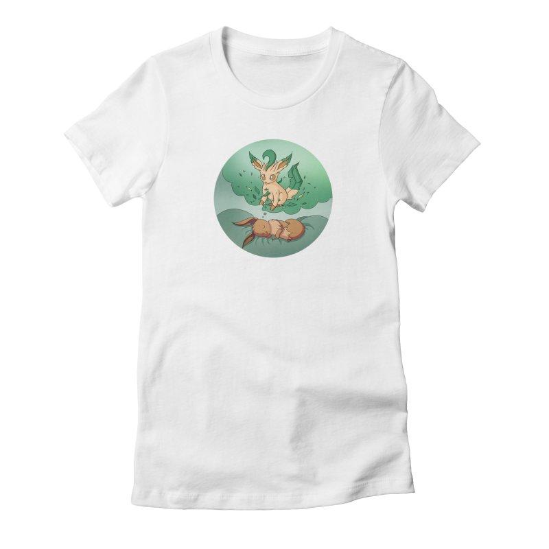 Sweet Dreams: Leafeon Women's T-Shirt by Night Shift Comics Shop