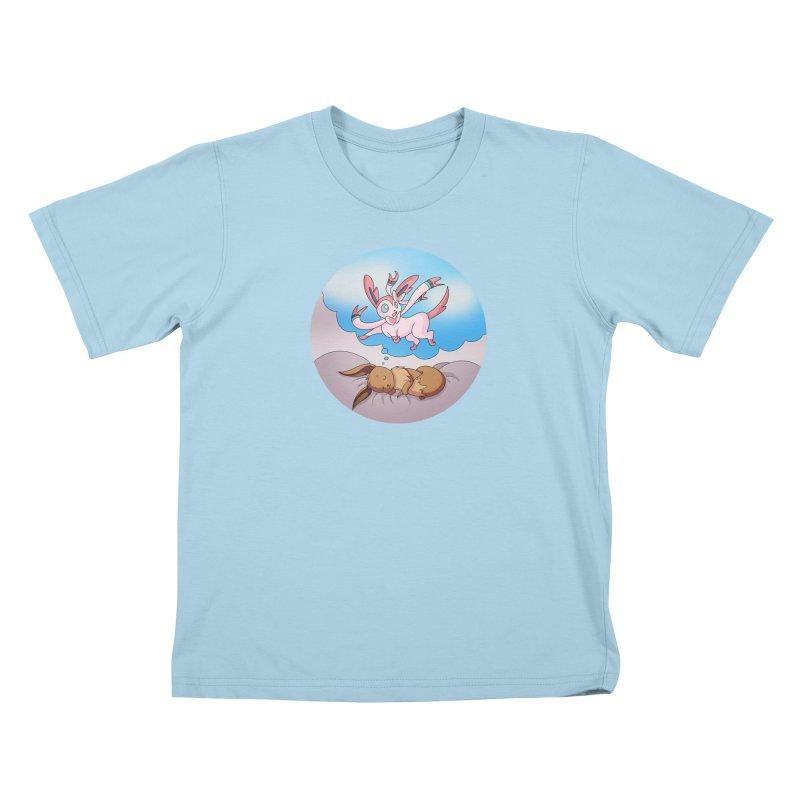 Sweet Dreams: Sylveon Kids T-Shirt by Night Shift Comics Shop