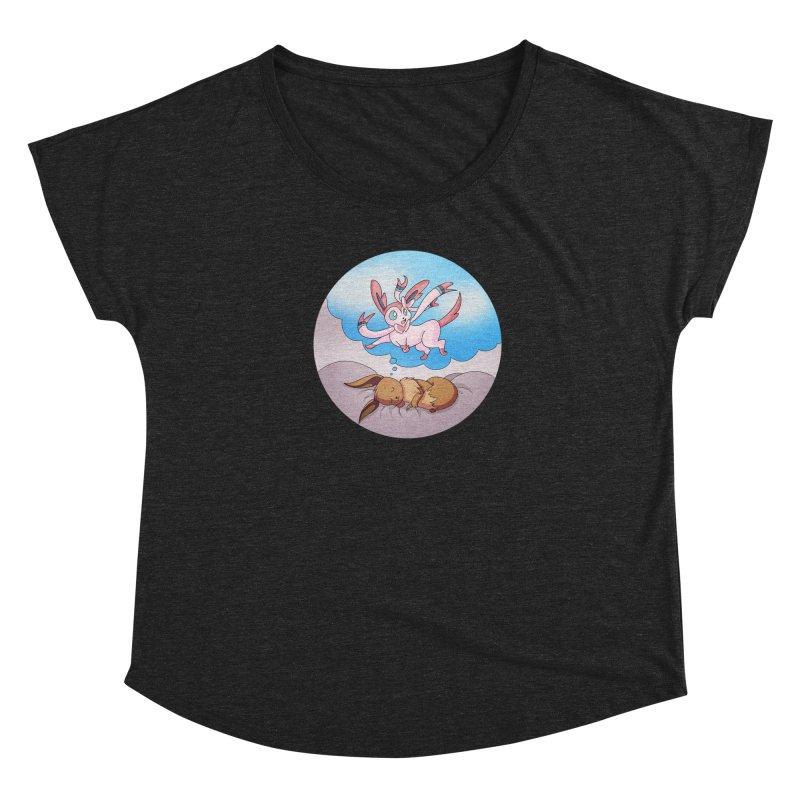 Sweet Dreams: Sylveon Women's Scoop Neck by Night Shift Comics Shop