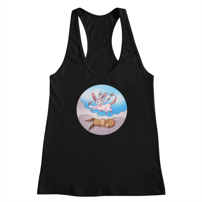 Sweet Dreams: Sylveon Women's Racerback Tank by Night Shift Comics Shop
