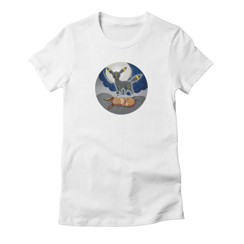 Sweet Dreams: Umbreon Women's Fitted T-Shirt by Night Shift Comics Shop