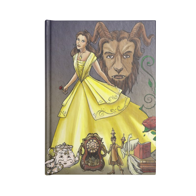 Belle and the Beast Accessories Blank Journal Notebook by Night Shift Comics Shop