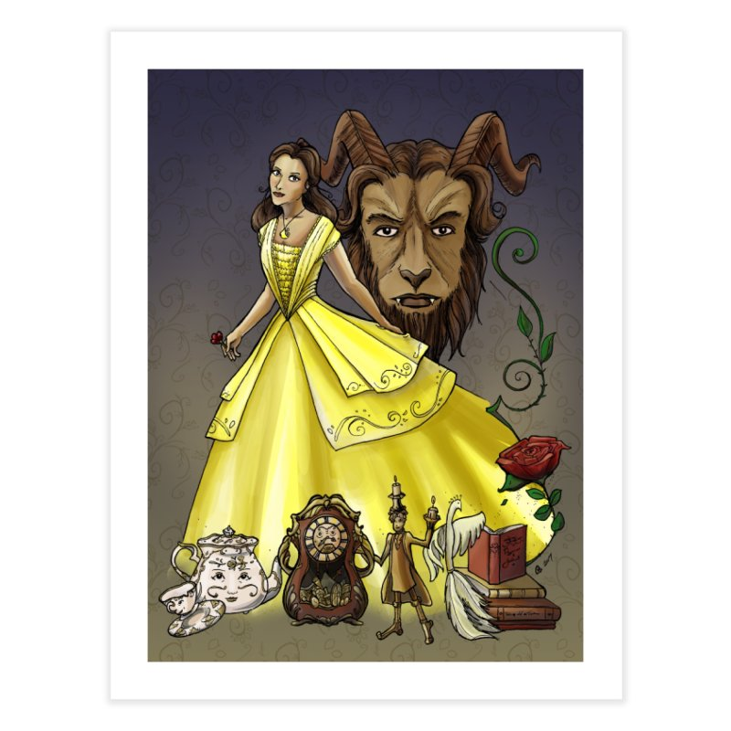 Belle and the Beast Home Fine Art Print by Night Shift Comics Shop