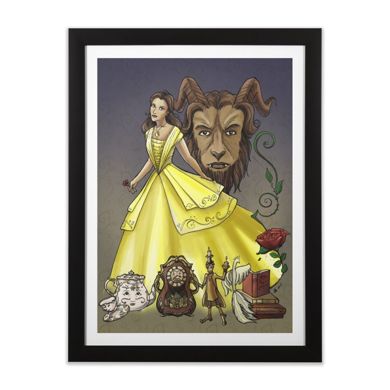 Belle and the Beast Home Framed Fine Art Print by Night Shift Comics Shop