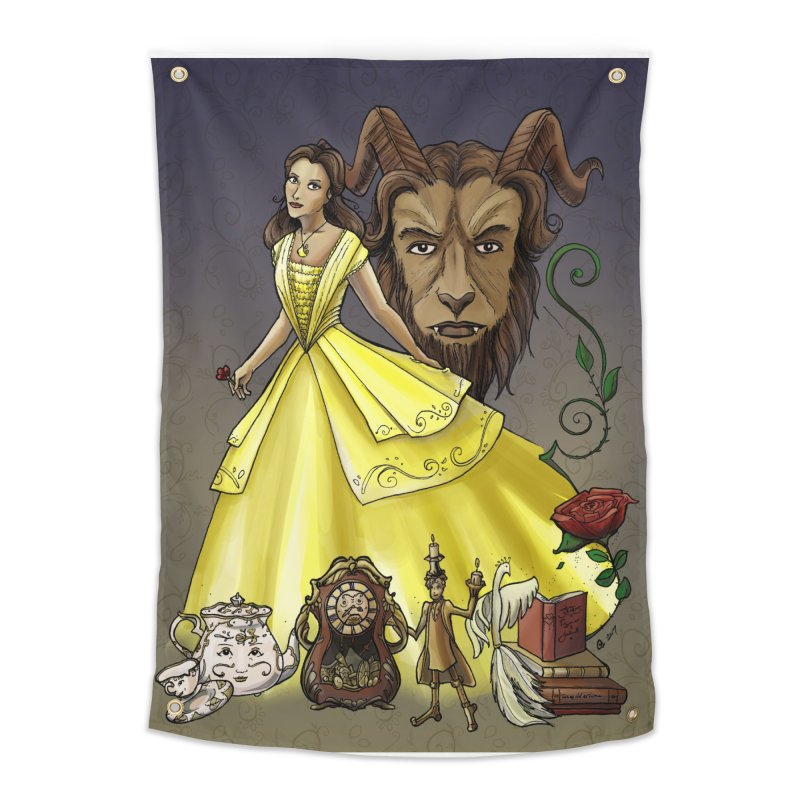 Belle and the Beast Home Tapestry by Night Shift Comics Shop