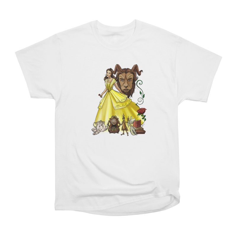 Belle and the Beast Men's T-Shirt by Night Shift Comics Shop