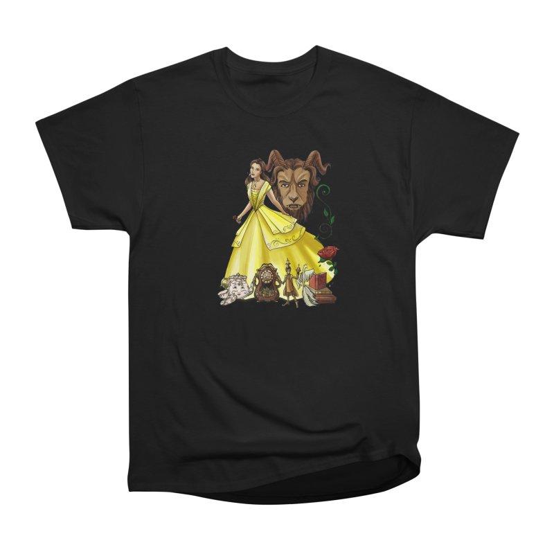 Belle and the Beast Men's Heavyweight T-Shirt by Night Shift Comics Shop