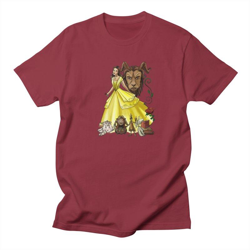 Belle and the Beast Women's Regular Unisex T-Shirt by Night Shift Comics Shop