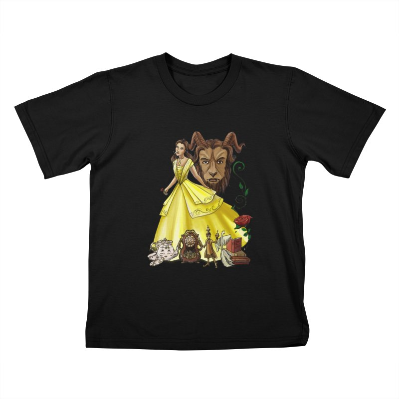 Belle and the Beast Kids T-Shirt by Night Shift Comics Shop