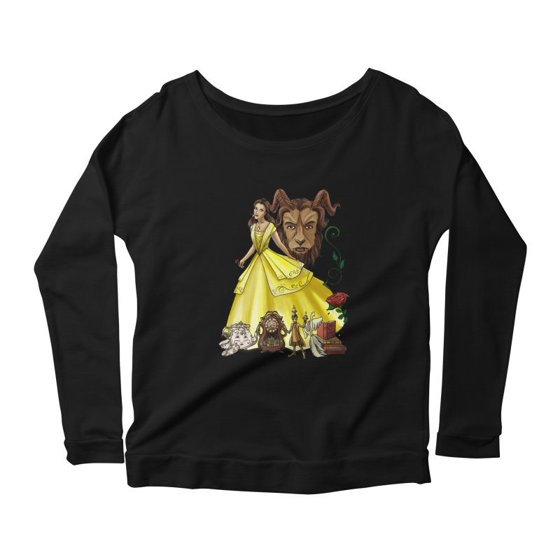 Belle and the Beast Women's Scoop Neck Longsleeve T-Shirt by Night Shift Comics Shop