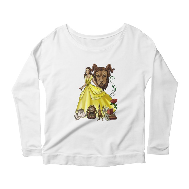 Belle and the Beast Women's Longsleeve T-Shirt by Night Shift Comics Shop