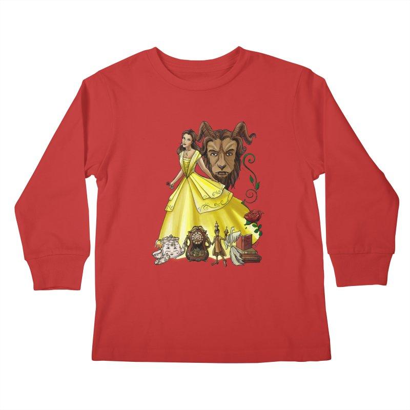 Belle and the Beast Kids Longsleeve T-Shirt by Night Shift Comics Shop