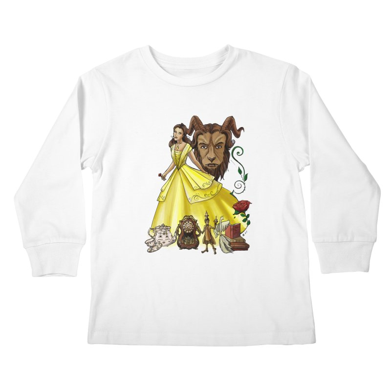 Belle and the Beast Kids Longsleeve T-Shirt by Night Shift Comics Shop