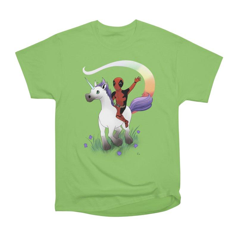 Deadpool - Unicorn Men's Heavyweight T-Shirt by Night Shift Comics Shop