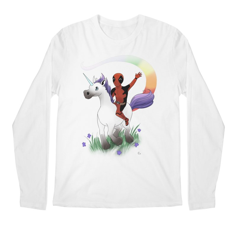Deadpool - Unicorn Men's Regular Longsleeve T-Shirt by Night Shift Comics Shop
