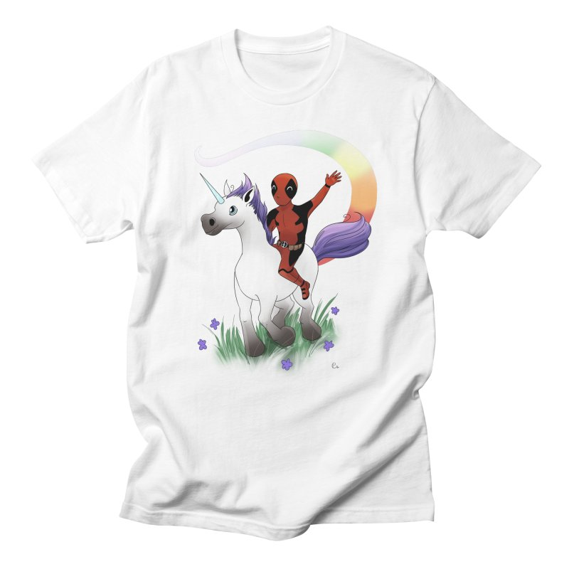 Deadpool - Unicorn Men's Regular T-Shirt by Night Shift Comics Shop