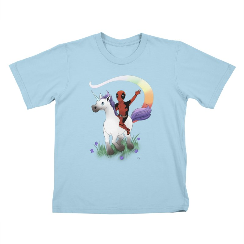 Deadpool - Unicorn Kids T-Shirt by Night Shift Comics Shop