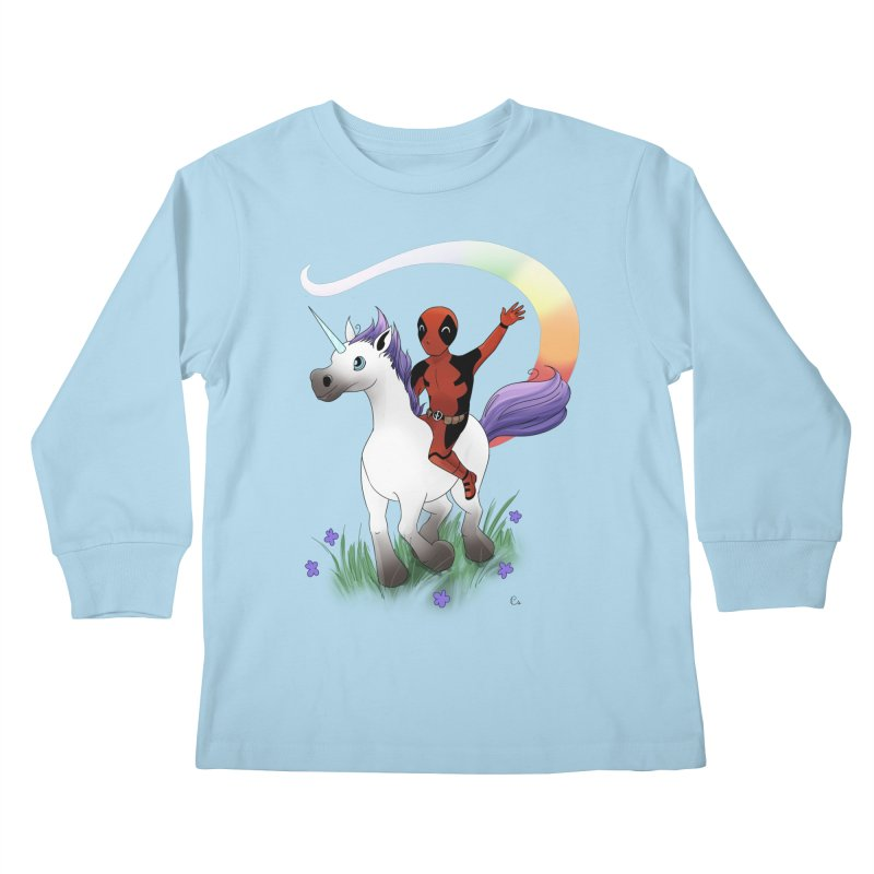 Deadpool - Unicorn Kids Longsleeve T-Shirt by Night Shift Comics Shop