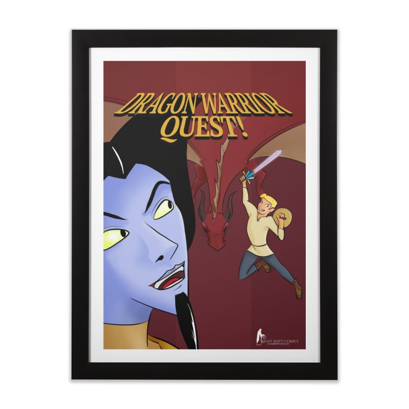 Dragon Warrior Quest! Home Framed Fine Art Print by Night Shift Comics Shop