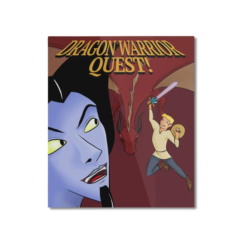 Dragon Warrior Quest! Home Mounted Aluminum Print by Night Shift Comics Shop