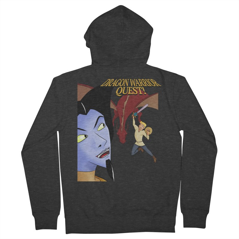 Dragon Warrior Quest! Men's French Terry Zip-Up Hoody by Night Shift Comics Shop