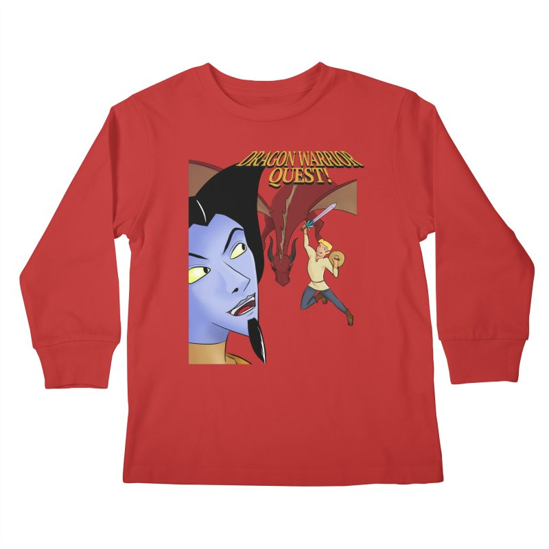 Dragon Warrior Quest! Kids Longsleeve T-Shirt by Night Shift Comics Shop
