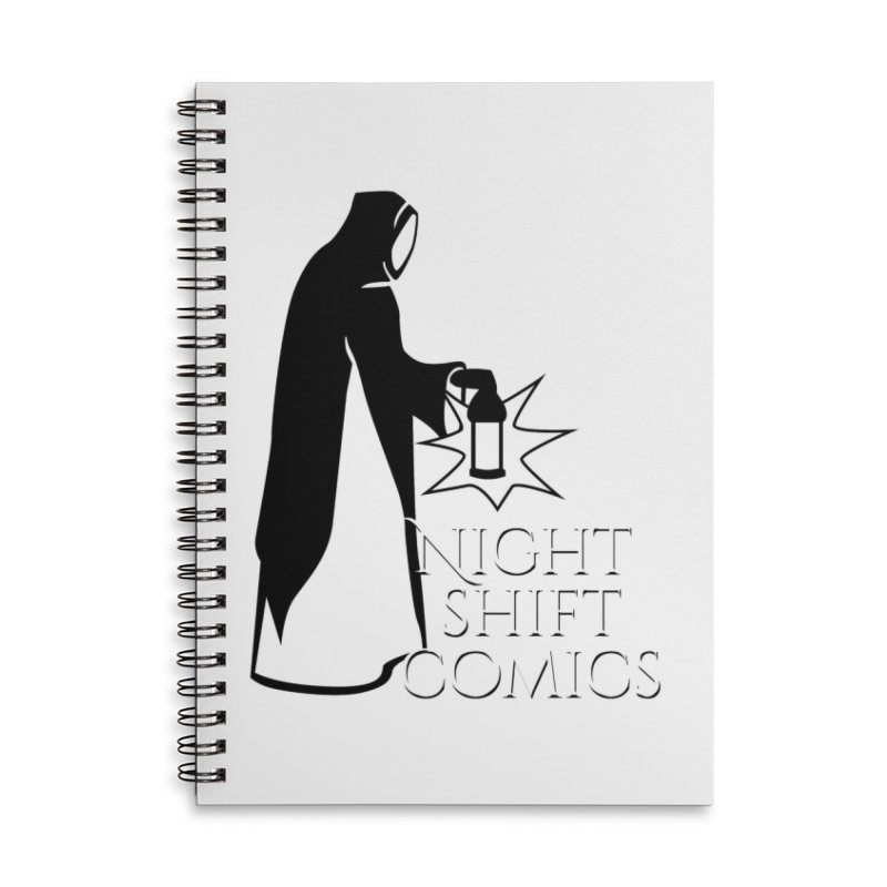 Night Shift Comics Logo Accessories Lined Spiral Notebook by Night Shift Comics Shop