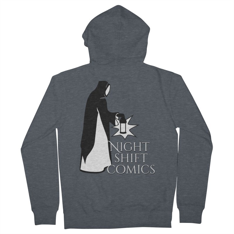 Night Shift Comics Logo Women's French Terry Zip-Up Hoody by Night Shift Comics Shop